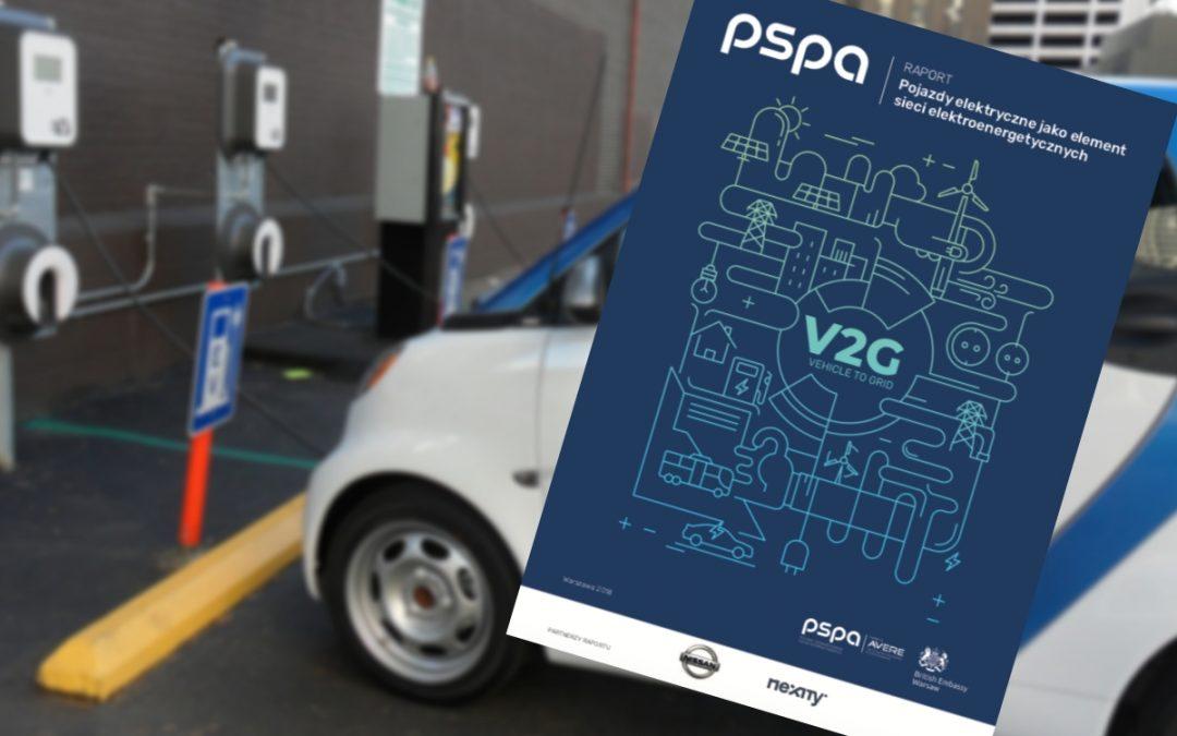 Raport PSPA. Pojazdy elektryczne jako element sieci elektroenergetycznych